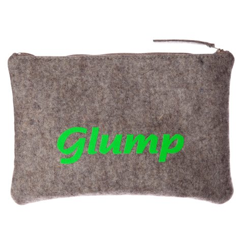 "Geldbeutel aus Filz ""Glump"" - Neongrün"