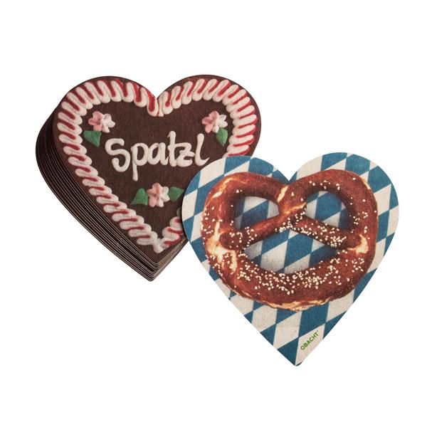 Bierdeckel Spatzl/Brezn