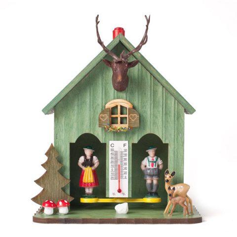 Geschenk aus Bayern: Wetterhaus - Grün